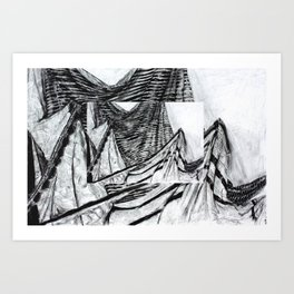 Double Drapery Drawing Art Print