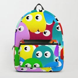 Multicoloured Ghosts Backpack