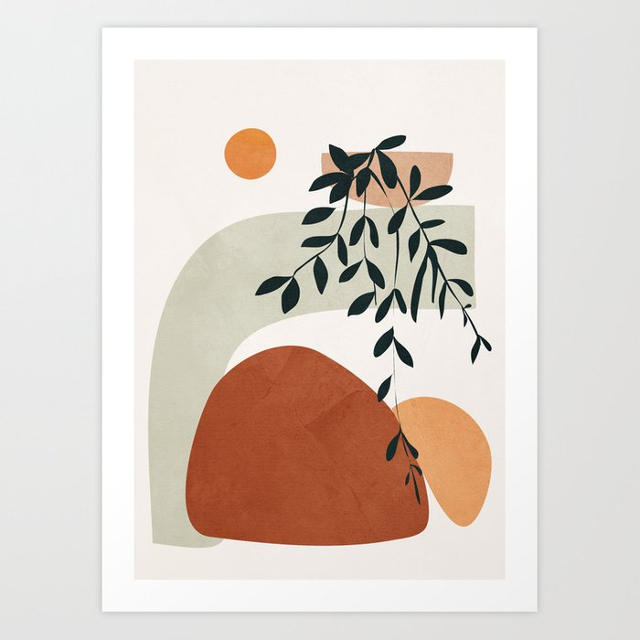 soft shapes art print