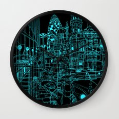 London! Night Wall Clock