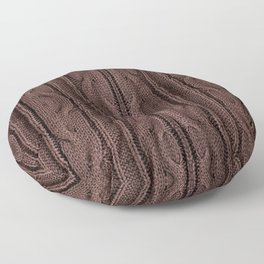 Brown braid jersey cloth texture abstract Floor Pillow