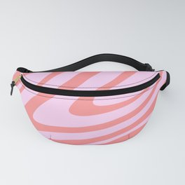 Pink Wavy Abstract Retro 70s Fanny Pack