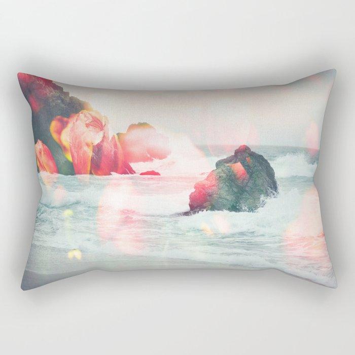 Crashing Tulips Rectangular Pillow