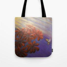 Geranium Bee Tote Bag