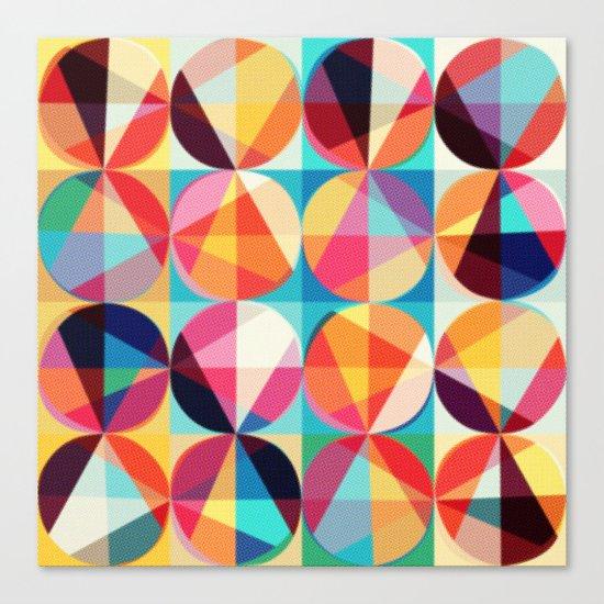 Circle pixelate Canvas Print