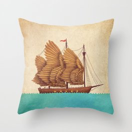 Winged Odyssey Throw Pillow