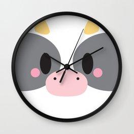 Cow Block Wall Clock