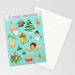 A Vintage Christmas Stationery Cards