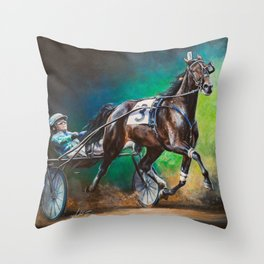Mystery Woman Throw Pillow