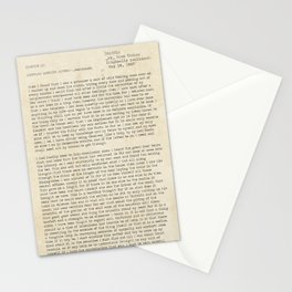 Dracula by Bram Stoker Chapter 3 - public domain book. Stationery Cards