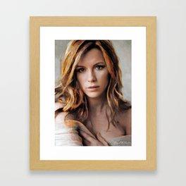 Hollywood Actresses  - Kate Beckinsale Framed Art Print