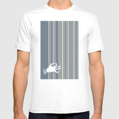 harp White SMALL Mens Fitted Tee