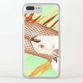Fishnet Pop Art Clear iPhone Case