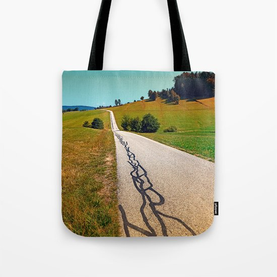 Traces of the tarmac worms Tote Bag