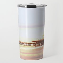 Santa Monica Pier Sunrise Travel Mug