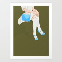 legs Art Prints featuring legs by ministryofpixel
