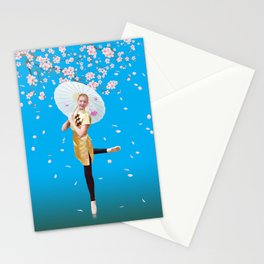 Cherry Blossom Ballerina Stationery Cards