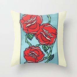 Growing Roses Throw Pillow