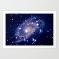 Galaxy deep in space. Art Print