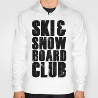 snowboard Hoodies featuring WHS Ski and Snowboard Club by slothcats