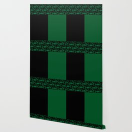 Abstract combo black and green decor Wallpaper
