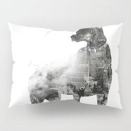 Doberman Pinscher NYC Skyline Pillow Sham