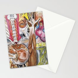 Anatomy Mash-up Stationery Cards