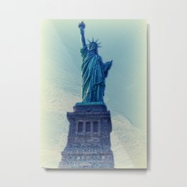 Liberty statue vintage Metal Print