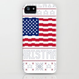 AMERI_ CHRISTMAS UGLY SWEATER T-SHIRT iPhone Case