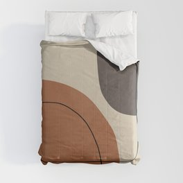 Modern Abstract Shapes #1 Comforters