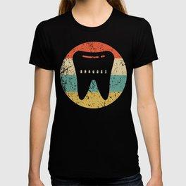 Dentist Orthodontist Vintage Retro Tooth T-shirt