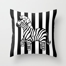 zebra stripe Throw Pillow