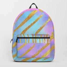 Golden Striped Pastel Backpack