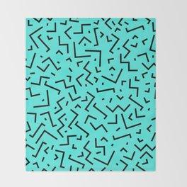 Memphis pattern 32 Throw Blanket