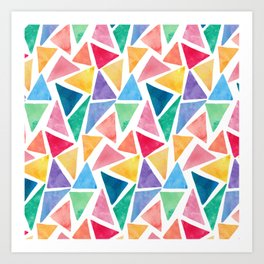 Watercolor Pattern Art Print