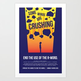 Some Words Are Crushing Art Print