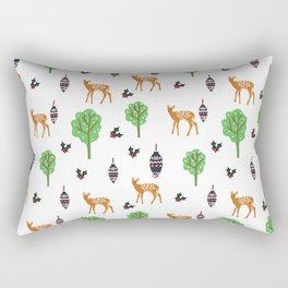 Xmas Deer Pattern Rectangular Pillow