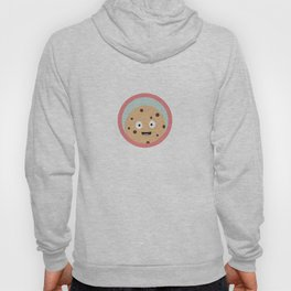 chocolate cookie with red circle Hoody