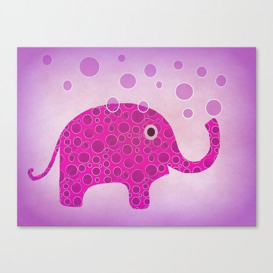 Elephant Blowing Bubbles Canvas Print