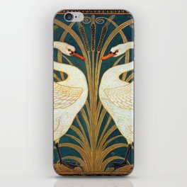 Walter Crane Swan, Rush And Iris iPhone Skin