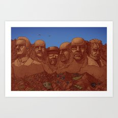 Mount Heisenberg Art Print