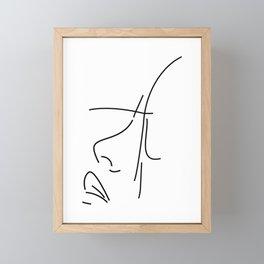 Female Illustration Line Art Framed Mini Art Print