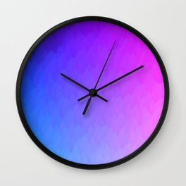 Purple, blue, and pink ombre flames Wall Clock