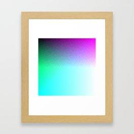 Six Color Ombre Cyan, Purple, Green, Pink, Purple, Blue, Spectrum Flame Framed Art Print