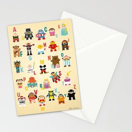 ABCD Superheros Stationery Cards