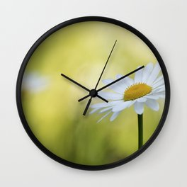 spring white flowers Wall Clock
