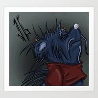 pooh Art Prints featuring Twisted Pooh by Jonathan Gehrke