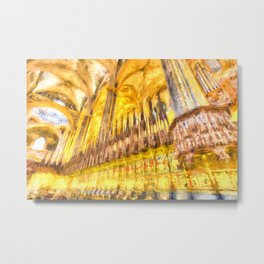 Barcelona Cathedral Old Master Metal Print