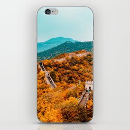 The Great Wall of China in Autumn (Color) iPhone Skin