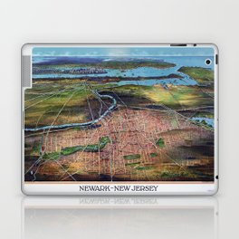 NEWHARK NEW JERSEY city old map Father Day art print poster Laptop & iPad Skin